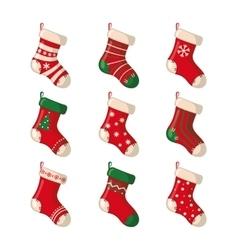 Set of cute Christmas socks vector image