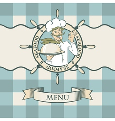chef mustaches vector image vector image