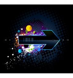 graffiti arrow vector image vector image