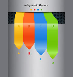 infographic arrows on portrait metallic background vector image