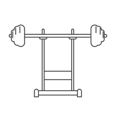 outline weight barbell equipment fitness gym vector image vector image