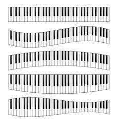 piano keyboard image set vector image vector image