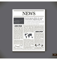 The newspaper with a headline News vector image vector image