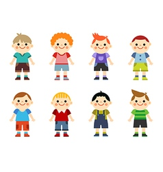 Happy little boys collection set vector image vector image
