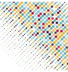 Background with the colored circles in a vector image vector image