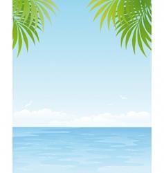 ocean poster vector image vector image