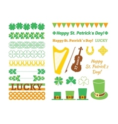 Set of Saint Patricks Day design elements vector image