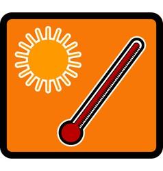 Temperature vector image vector image