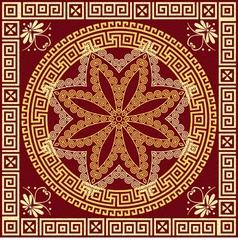 Traditional vintage golden Greek ornament Meander vector image vector image