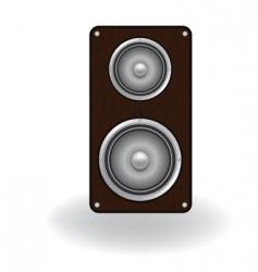 wooden loud speaker vector image