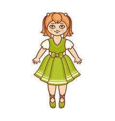 A little ballerina in a beautiful dress vector