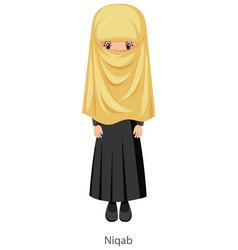 a woman wearing niqab islamic traditional veil vector image