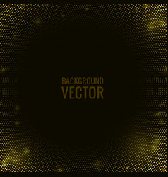abstract black textured background golden glitter vector image