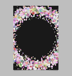 Abstract blank confetti ring brochure background vector