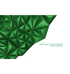 abstract green triangle 3d on white design vector image