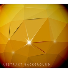 Abstract yellow background made from triangles vector image