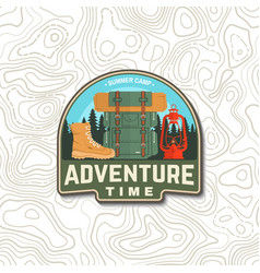 adventure time patch concept for shirt vector image