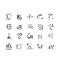Advisor line icons signs set outline vector