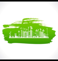 artistic design of go green or save earth design vector image