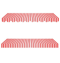 Awning set vector image