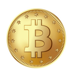 bitcoin golden coin money and finance symbol for vector image