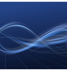 Blue bright energy flow lines vector image vector image