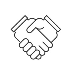 business hand or handshake icon deal and meeting vector image