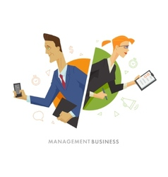 Business male and female user symbol vector