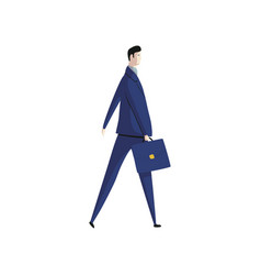 businessman in blue suit on white background vector image