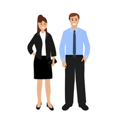 businessmen woman and man vector image