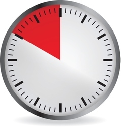clock with red 10 minute deadline vector image