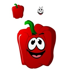 Colorful happy red sweet bell pepper vegetable vector