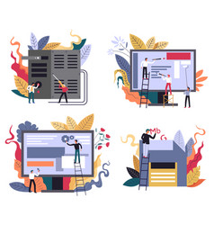 computer technology web design and application vector image