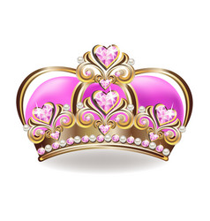 crown of the princess vector image