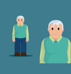 cute grandfather cartoon vector image