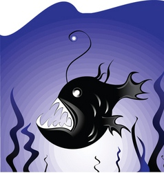 deepsea fish vector image
