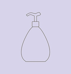 Dispenser bottle icon vector image