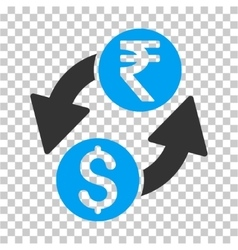 Dollar Rupee Exchange Icon vector