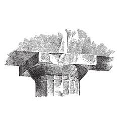 Echinus molding a capital parthenon vector