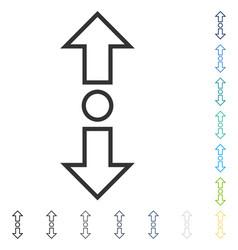 Expand arrows vertical icon vector