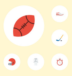 flat icons uniform shoes puck and other vector image