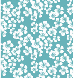 fresh simple minimal floral seamless pattern vector image