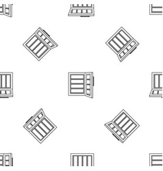 Glass door fridge pattern seamless vector