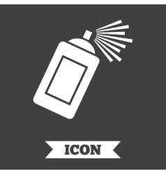 Graffiti spray can sign icon Aerosol paint vector image