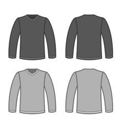 Grey Men T-shirt Long Sleeved Shirts vector
