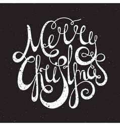 Hand written grunge inscription merry christmas vector