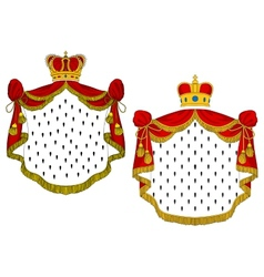 Heraldic royal mantles vector image
