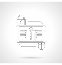 Home security system detail flat line icon vector image