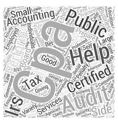 How CPAs Can Help You Word Cloud Concept vector