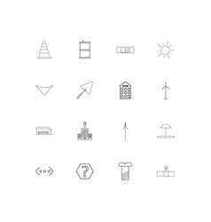 Industry linear thin icons set outlined simple vector